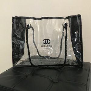Chanel Beaute Clear Makeup Tote Bag